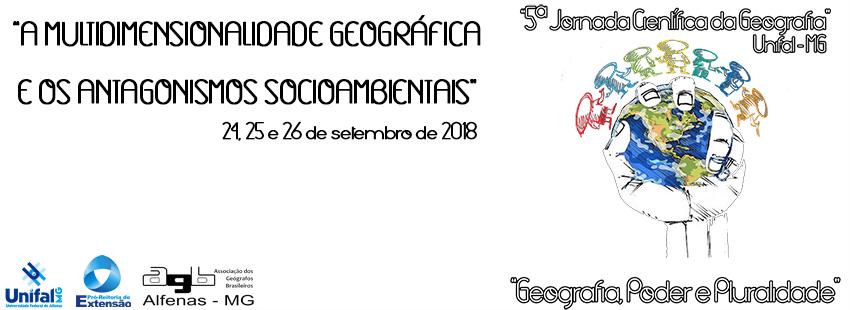 5ª Jornada Científica da Geografia