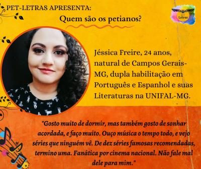Quem são os petianos? Conheça a petiana Jéssica Freire