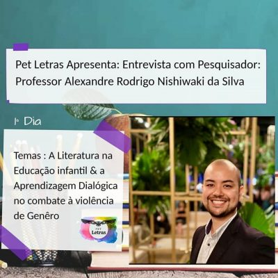 Entrevista com Pesquisador: Professor Alexandre Rodrigo Nishiwaki da Silva