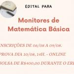 Seleção de discentes para Monitoria na Disciplina de Matemática Básica