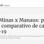 Projeto da UNIFAL-MG que verifica parâmetros da saúde e analisa indicadores da Covid-19 ganha repercussão no jornal Estado de Minas; matéria destaca comparativo de novos casos e alerta para colapso hospitalar no sul de Minas Gerais