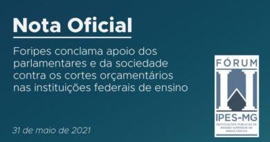 Em Nota Oficial, reitores e reitoras das instituições públicas de ensino superior de Minas Gerais conclamam apoio de parlamentares e da sociedade contra os cortes no orçamento das universidades, dos institutos federais e dos centros federais de educação tecnológica do estado