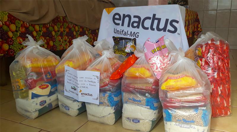 Ação solidária do time Enactus UNIFAL-MG beneficia população em situação de vulnerabilidade socioeconômica de Alfenas